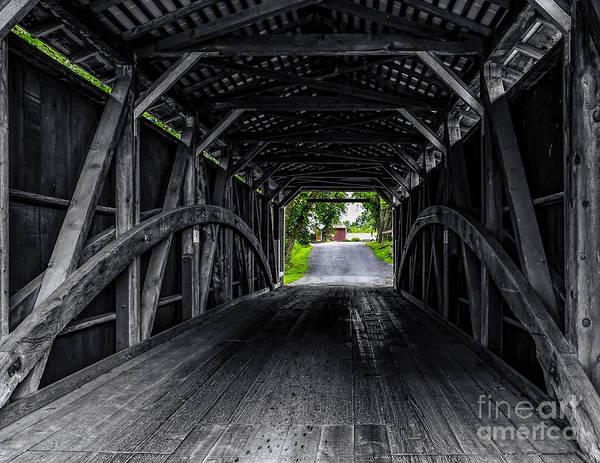 Photograph - Butchers Mill Bridge - Into Color by Nick Zelinsky