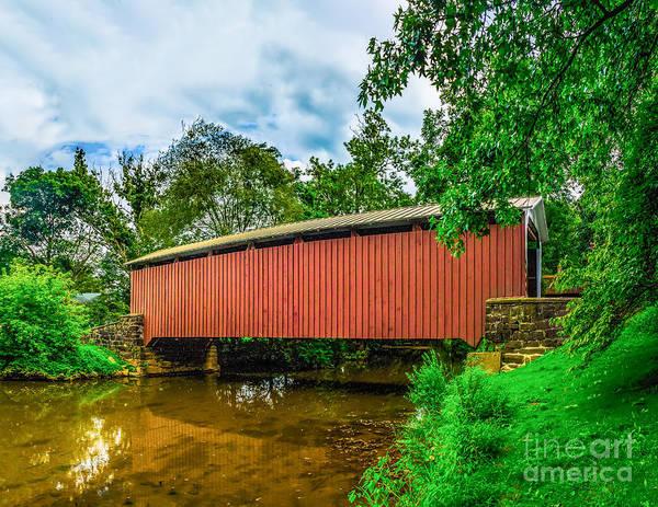 Photograph - Butchers Mill Covered Bridge by Nick Zelinsky