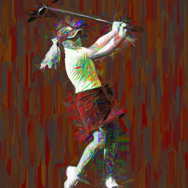 Photograph - Butler University Bulldog Golfer Jporter Painted Red by David Haskett II