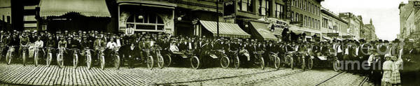 Victory Motorcycle Photograph - Butte Motorcycle Club Circa 1914 by Jon Neidert