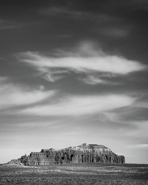 Painted Desert Photograph - Butte With Clouds by Joseph Smith