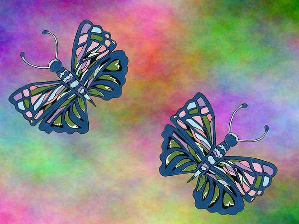 Pretty In Pink Mixed Media - Butterflies In Flight by Kathleen Sartoris