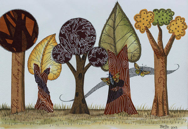 Print On Demand Wall Art - Painting - Butterflies Romance by Graciela Bello