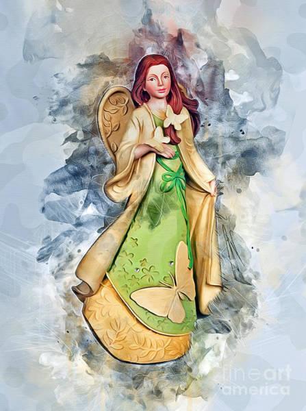Digital Art - Butterfly Angel by Ian Mitchell