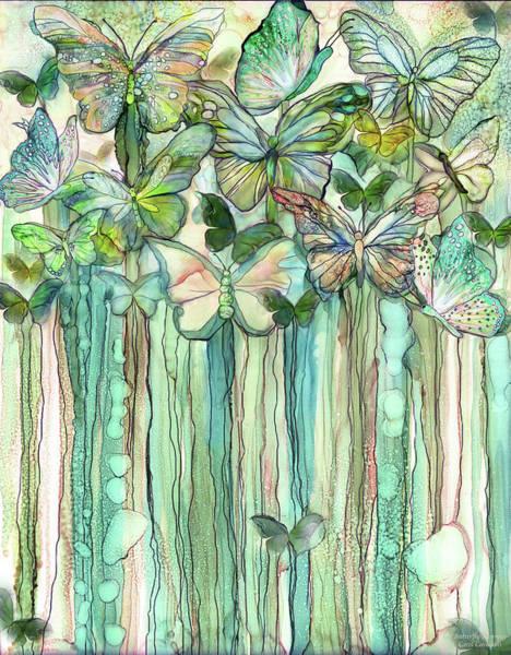 Mixed Media - Butterfly Bloomies 1 - Peach by Carol Cavalaris