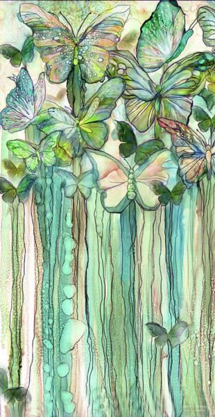 Mixed Media - Butterfly Bloomies 2 - Peach by Carol Cavalaris