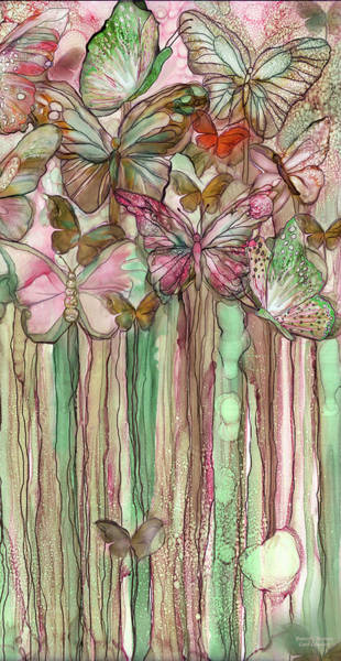 Mixed Media - Butterfly Bloomies 2 - Pink by Carol Cavalaris