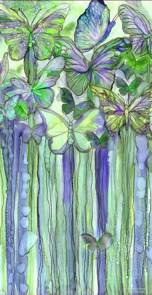 Mixed Media - Butterfly Bloomies 2 - Purple by Carol Cavalaris