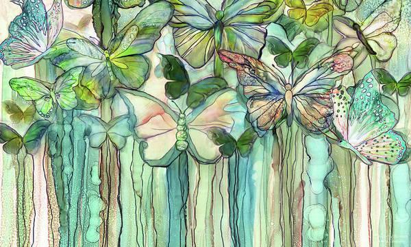Mixed Media - Butterfly Bloomies 3 - Peach by Carol Cavalaris