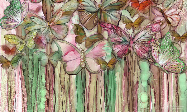 Mixed Media - Butterfly Bloomies 3 - Pink by Carol Cavalaris