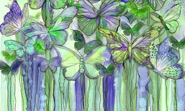 Mixed Media - Butterfly Bloomies 3 - Purple by Carol Cavalaris