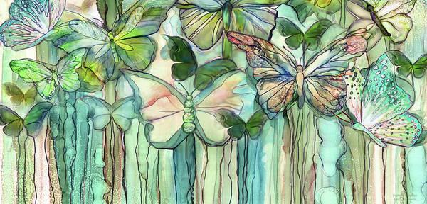 Mixed Media - Butterfly Bloomies 4 - Peach by Carol Cavalaris