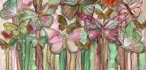 Mixed Media - Butterfly Bloomies 4 - Pink by Carol Cavalaris