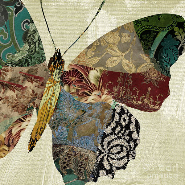 Tapestries Textiles Wall Art - Painting - Butterfly Brocade Iv by Mindy Sommers