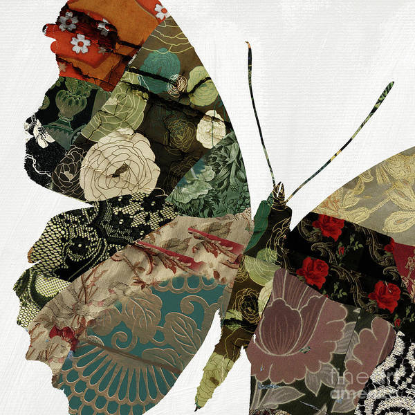 Wall Art - Mixed Media - Butterfly Brocade V by Mindy Sommers