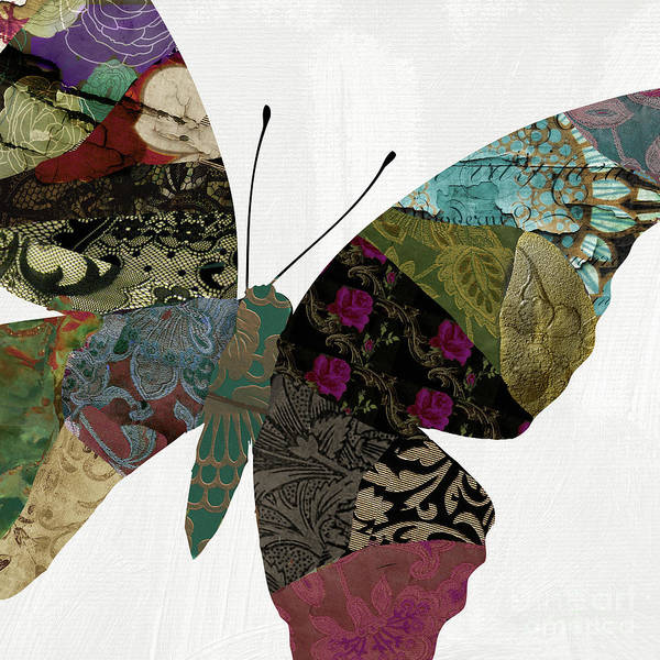 Wall Art - Mixed Media - Butterfly Brocade Vi by Mindy Sommers