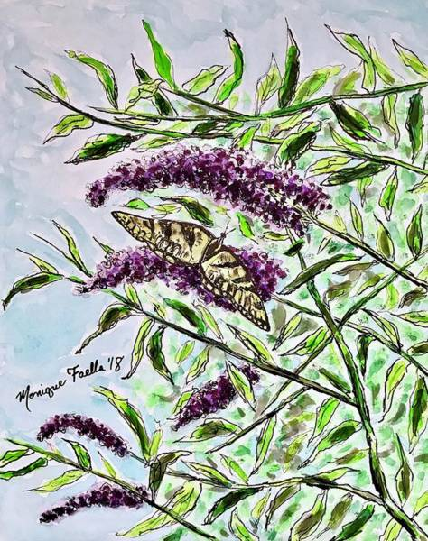 Thumb Painting - Butterfly Bush by Monique Faella