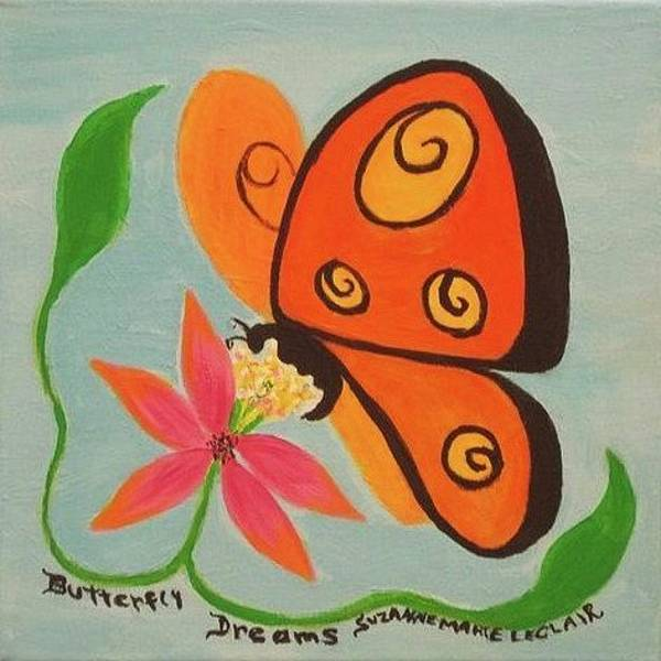 Leclair Painting - Butterfly Dreams by Suzanne  Marie Leclair