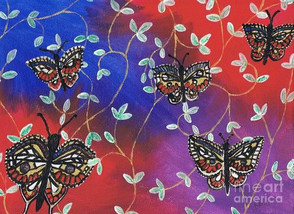 Painting - Butterfly Family Tree by Karen Jane Jones