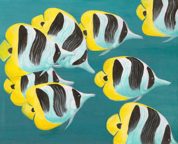 Painting - Butterfly Fish by Adam Johnson
