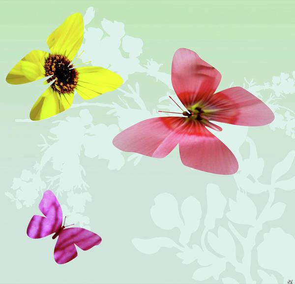 Butterfly On Flower Digital Art - Butterfly Floral  3 by Debra     Vatalaro