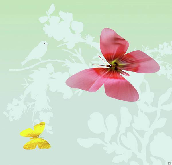 Butterfly On Flower Digital Art - Butterfly Floral  4 by Debra     Vatalaro
