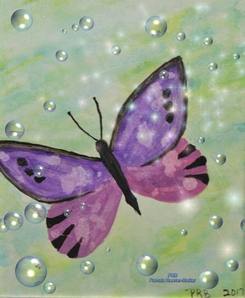 Prb Mixed Media - Butterfly/flutterfly by Pamula Reeves-Barker