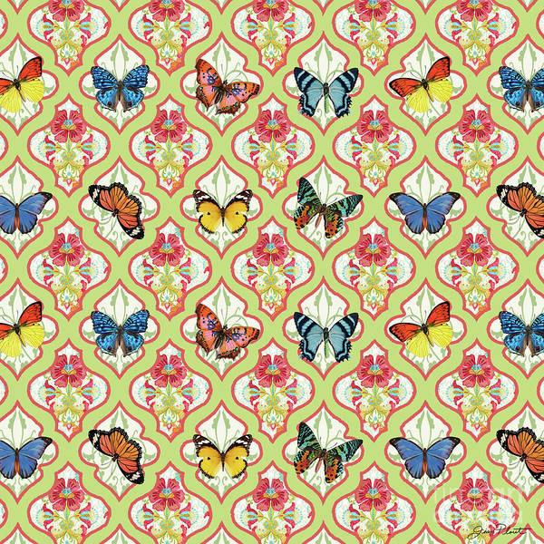 Blue Bug Digital Art - Butterflies In The Garden-a by Jean Plout