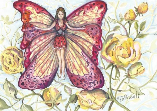 Butterfly Grace Fairy Art Print