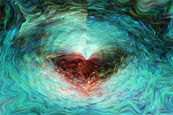Wall Art - Digital Art - Butterfly Heart by Linda Sannuti