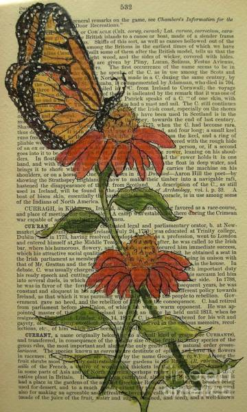 Wall Art - Painting - Butterfly In The Garden by Maria Hunt