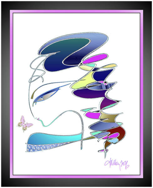 Mixed Media - Butterfly Kiss by Larry Talley