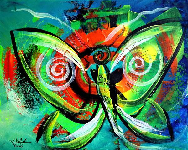 Painting - Butterfly Love by J Vincent Scarpace