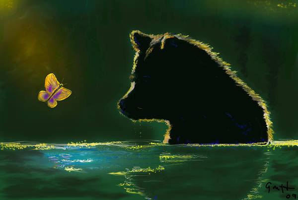 Grizzly Bears Digital Art - Butterfly Lullaby by J Griff Griffin