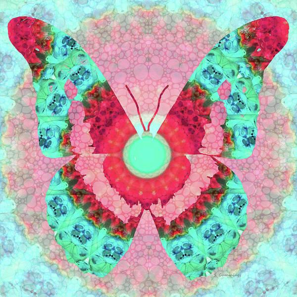Painting - Butterfly Mandala 3 Art By Sharon Cummings by Sharon Cummings