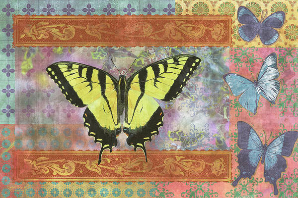 Wall Art - Painting - Butterfly Mosaic by JQ Licensing