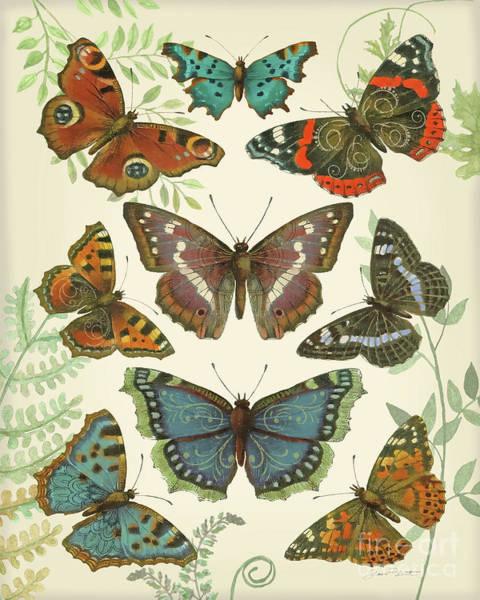 Ferns Digital Art - Butterfly Plate 4 B by Jean Plout