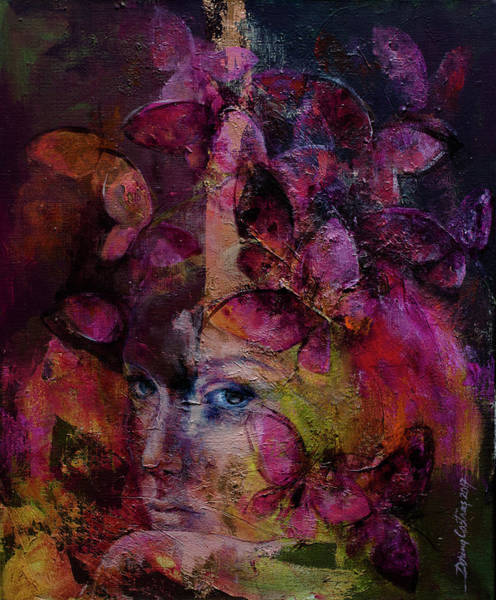 Wall Art - Painting - Butterfly Romance by Dorina Costras