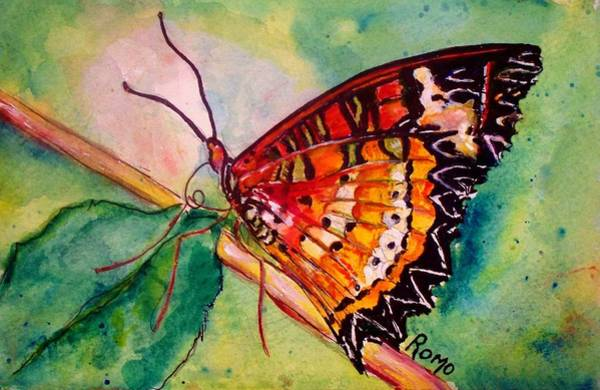 Romo Painting - Butterfly Song by Robin Monroe