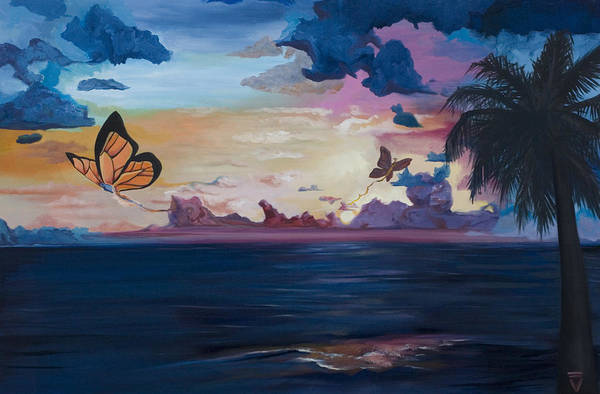 Wall Art - Painting - Butterfly Sunset by Victoria Dietz