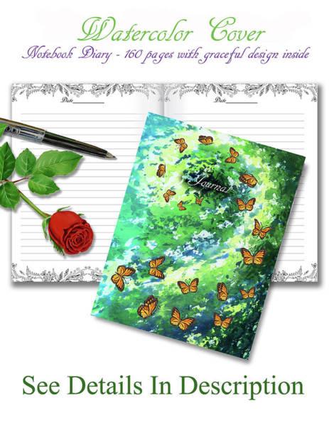 Mixed Media - Butterfly Vortex Journal Watercolor Cover By Irina Sztukowski by Irina Sztukowski