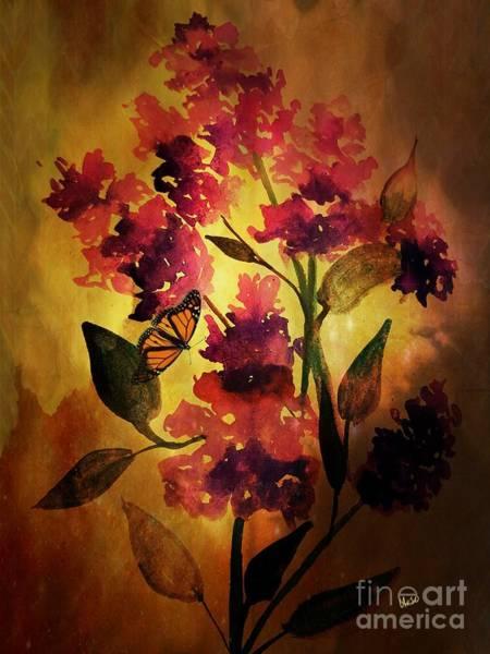 Shrub Mixed Media - Butterfly's Joy by Maria Urso