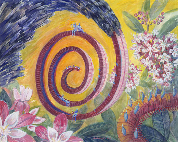Painting - Butterfly's 'tongue' by Shoshanah Dubiner