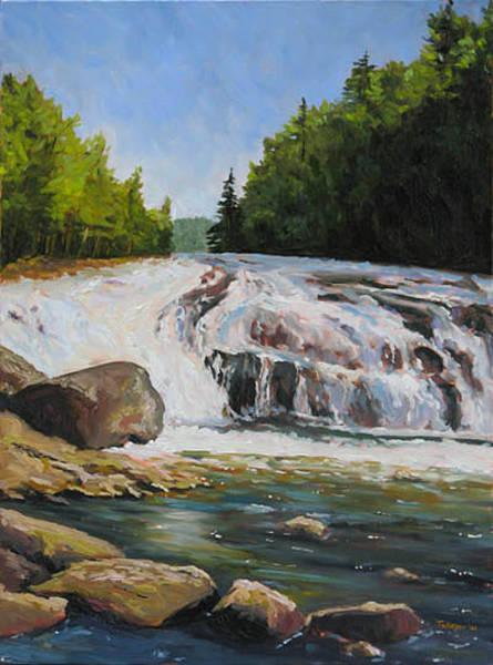 Adirondack Mountains Painting - Buttermilk Falls by Takeyce Walter
