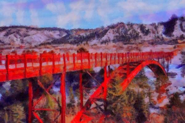 Digital Art - Buttermilk Mountain Bridge by Caito Junqueira
