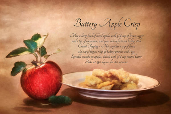 Red Delicious Apple Photograph - Buttery Apple Crisp by Lori Deiter