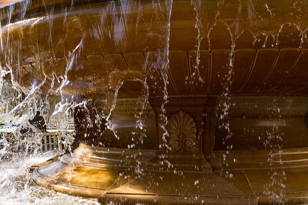 Photograph - Buttery Golden Marble Through Ripping Water Curtains - Take One by Georgia Mizuleva