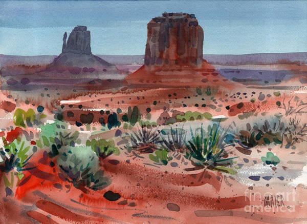 Monument Valley Navajo Tribal Park Wall Art - Painting - Buttes Of Monument Valley by Donald Maier