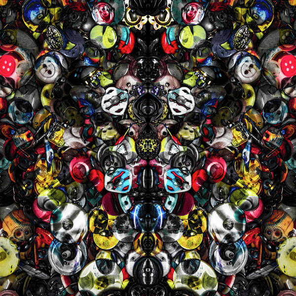 Photograph - Button Box Abstract 1 by Michael Arend