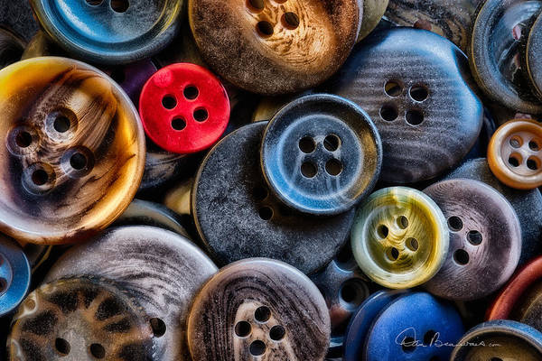 Photograph - Buttons 4093 by Dan Beauvais